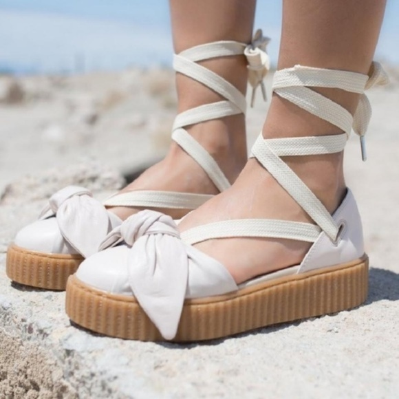official photos e6748 9738c Puma Fenty by Rihanna Oatmeal Creeper Sandals 7.5 NWT